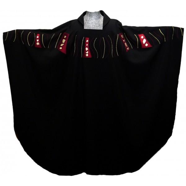 Messgewand - schwarz mit Schulterbestickung