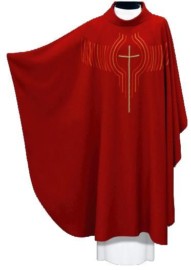 rote Kasel mit Kreuz und Strahlen 1