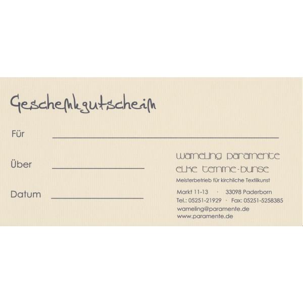 Gutschein - Geschenkgutschein