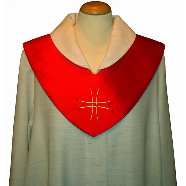 Scapulier - rot bestickt mit Japangoldkreuz
