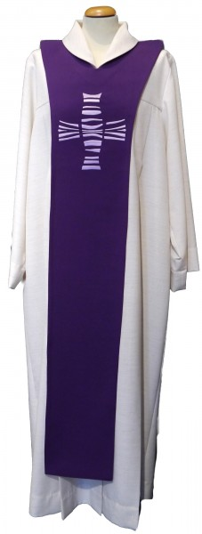 violettes Scapulier mit Kreuz
