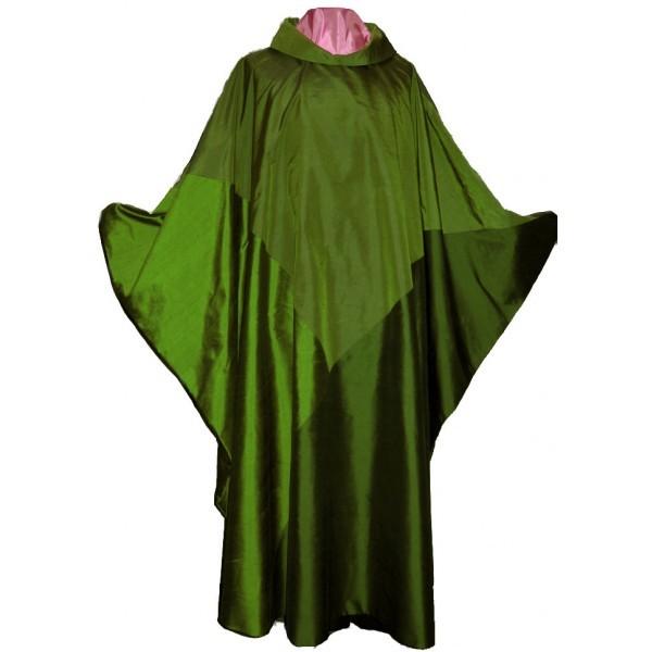 grünes Messgewand aus Seide - Dreifaltigkeit