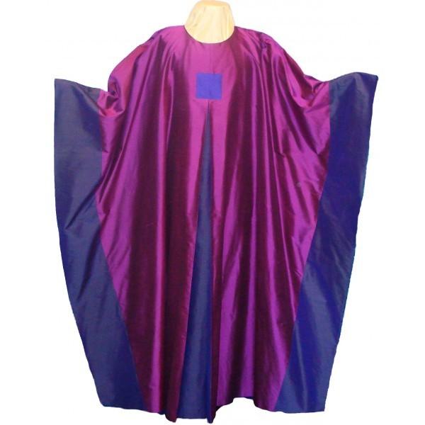 Seidenkasel - violett mit Falte