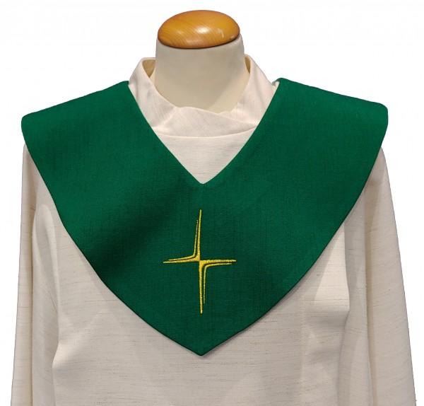 grünes Scapulier - schmales Kreuz