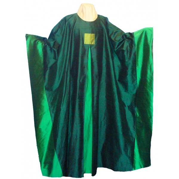 Seidenkasel - grün mit Falte