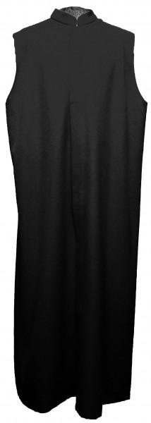 schwarzer Ministrantentalar - kleine Falte, Polyester