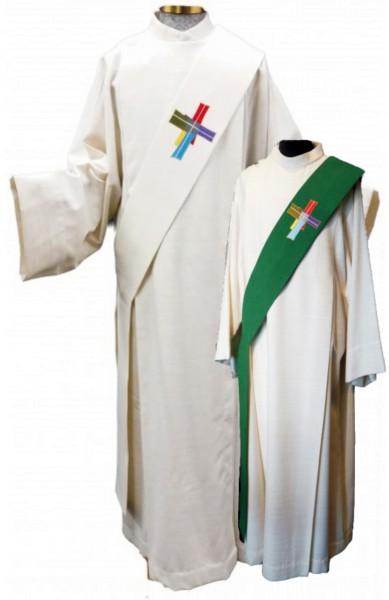 Wende-Diakonstola mit dem Paderborner Zukunftsbild weiß/grün