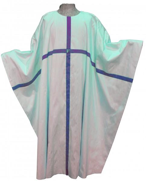 Marienkasel - cremefarben mit durchlaufendem, blauem Kreuz