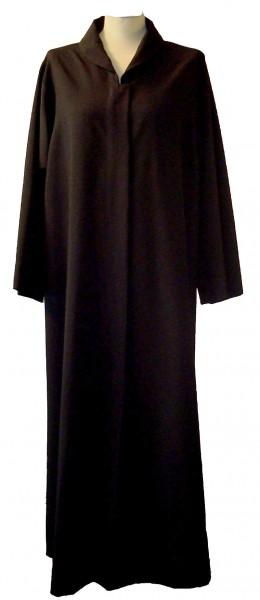 Schwarze Damenalbe für Beerdigungen