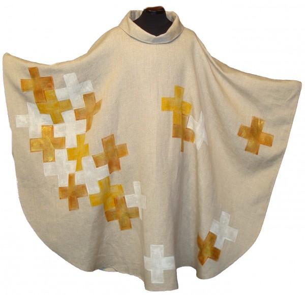 Messgewand - handbemalt mit goldenen Kreuzen