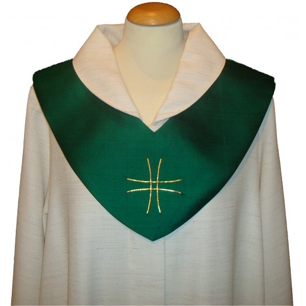 Scapulier - grün mit Kreuz