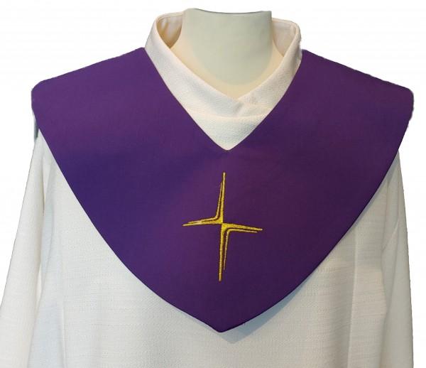 violettes Scapulier - schmales Kreuz