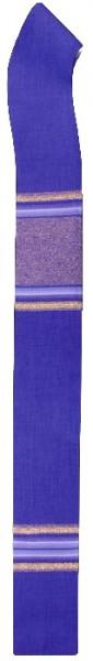 violette Stola mit Streifen