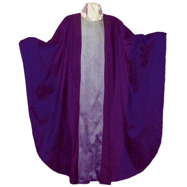 Seidenkasel - violett mit heller Mitte