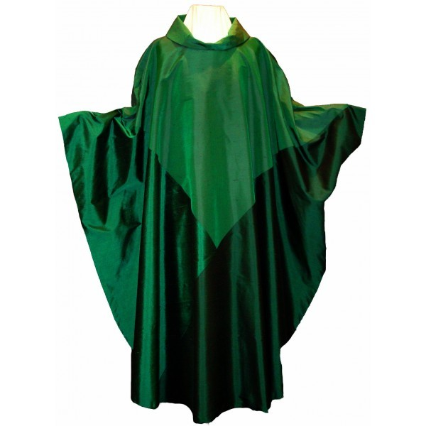 Messgewand - grün aus Seide - Dreifaltigkeit