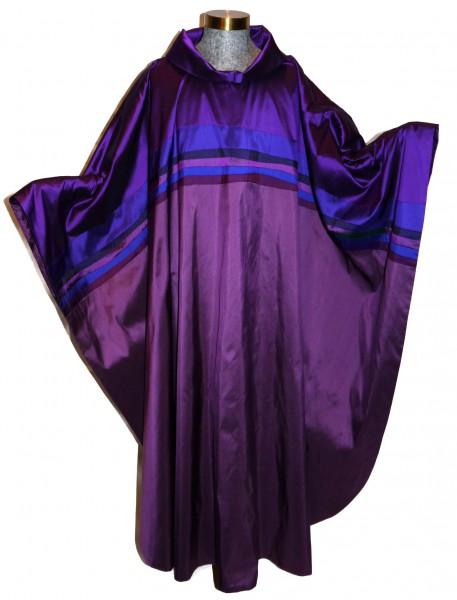 Seidenkasel - violett mit Querblende II