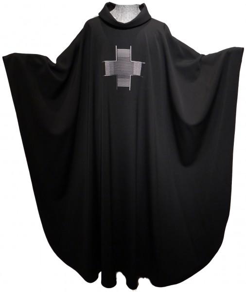 schwarzes Messgewand mit grauem Kreuz