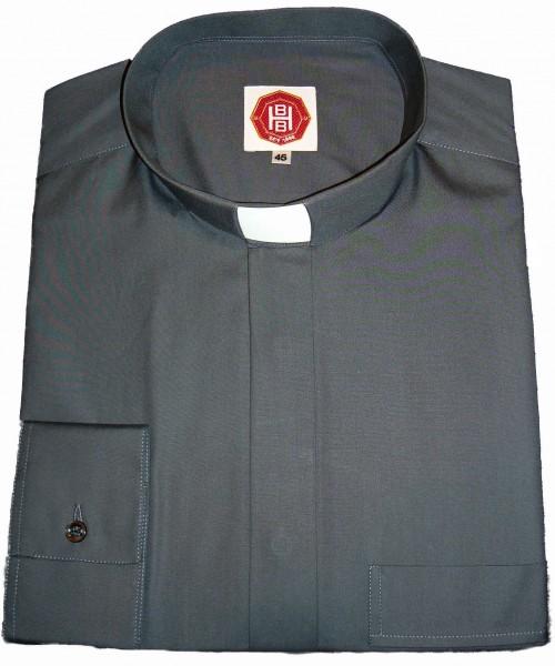dunelgraues, langärmeliges Collarhemd - Deutsches Fabrikat