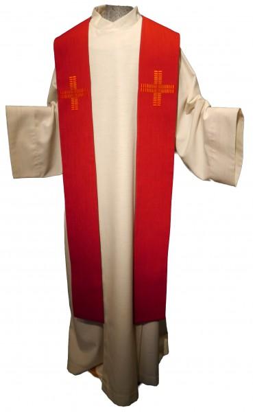 rote Stola mit 2 Kreuzen