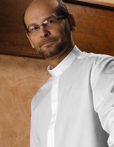 Weißes Collarhemd - non iron