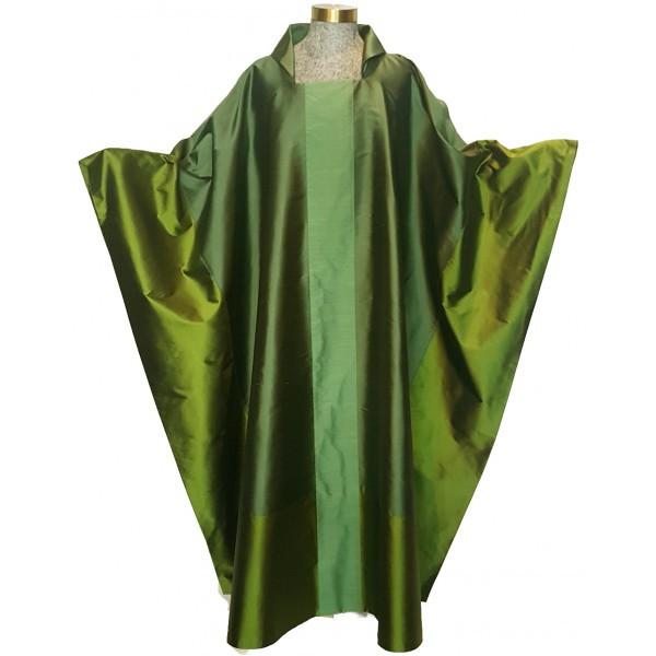 Messgewand - grün aus Seide