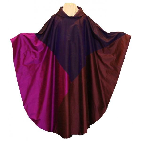 Messgewand - violett aus Seide - Dreifaltigkeit - Vorderteil