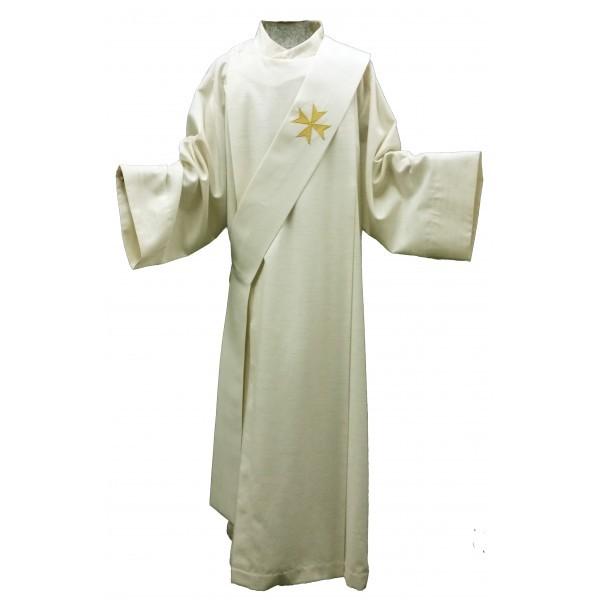 Diakonstola mit goldenem Malteser-Kreuz - Vorderteil