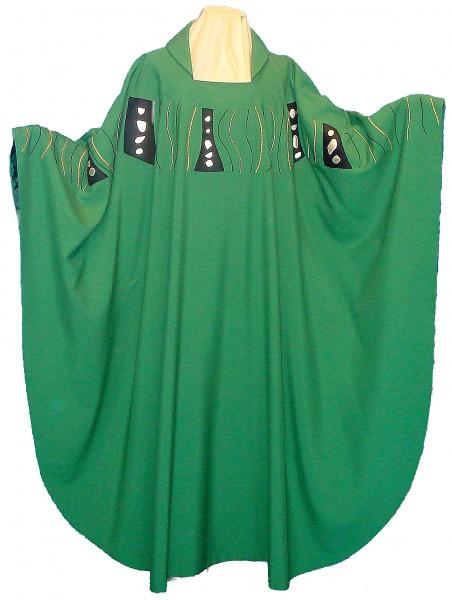 Messgewand - grün mit Schulterbestickung