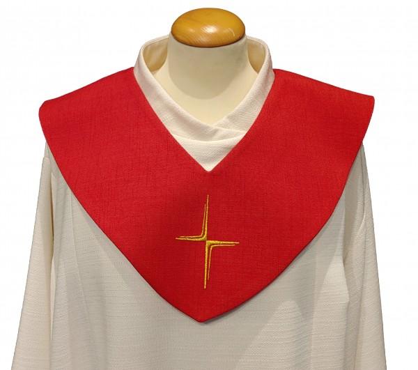 rotes Scapulier - schmales Kreuz
