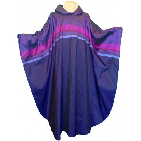 Seidenkasel - violett mit Querblende