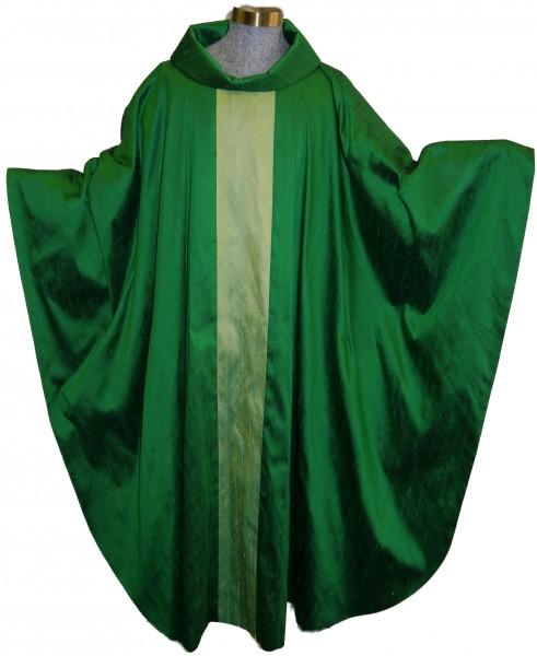 Seidengewand - grün mit hellgrünem Stab