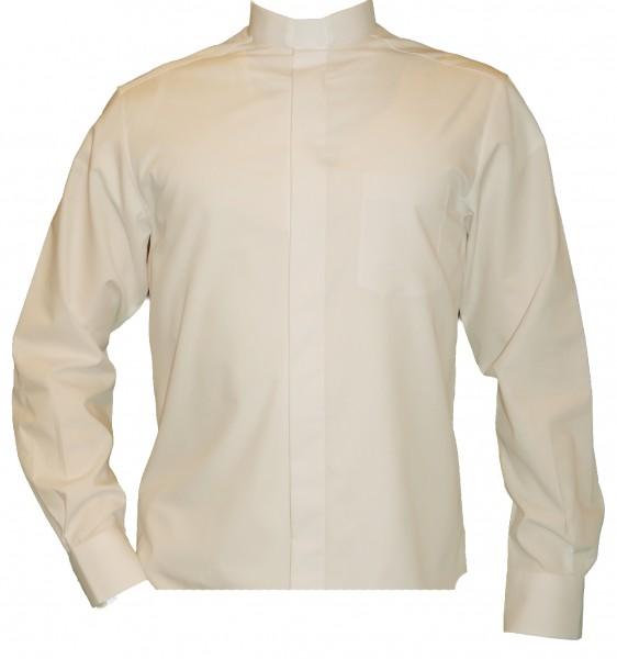 langärmeliges, weißes Slim Fit Collarhemd