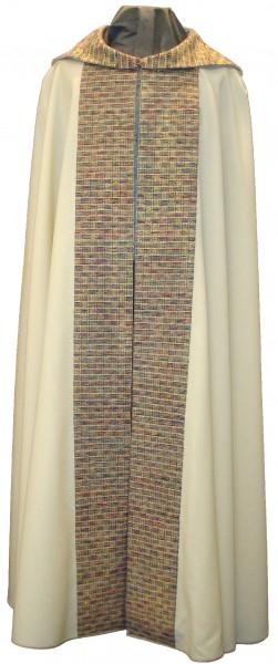 Chormantel mit Stänen und Cappa aus handgewebter Seide - Vorderteil