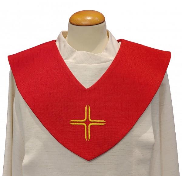 rotes Scapulier - goldenes Kreuz