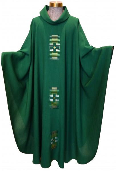 Grünes Messgewand mit 3 Kreuzen - 1